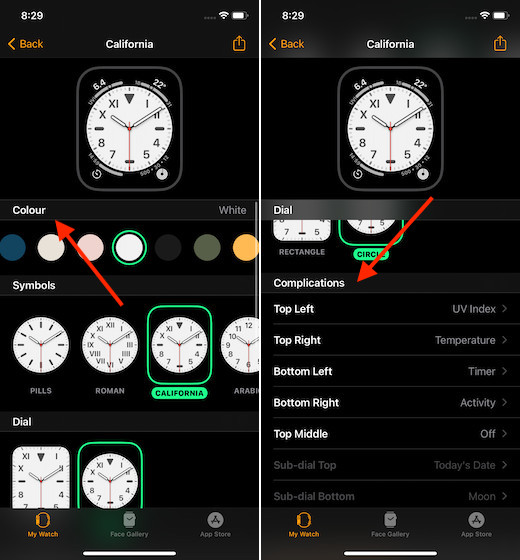 Настройте часы на Apple Watch