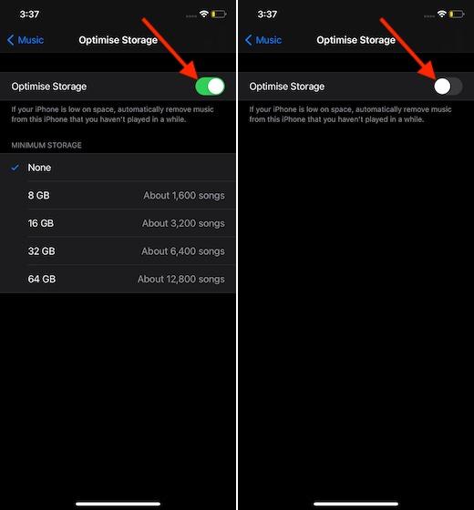 Отключить оптимизацию хранилища на iPhone и iPad