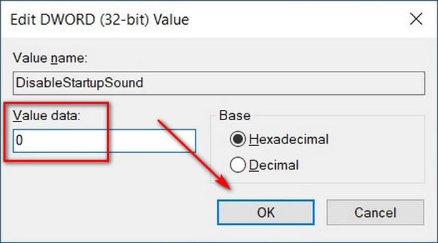 Как включить звук при запуске в Windows 10