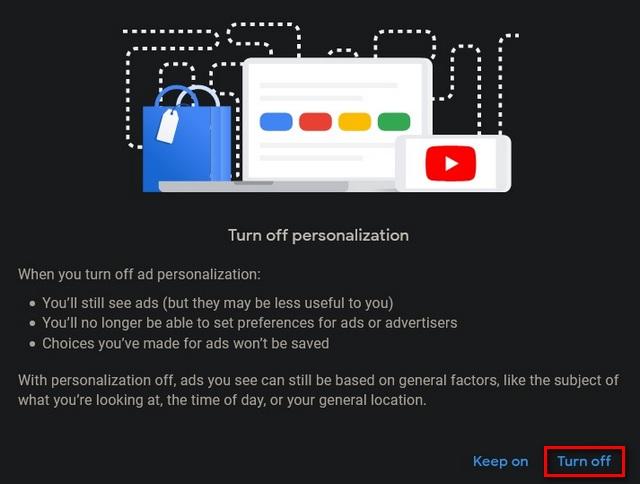 desactivar la personalización de anuncios en Google