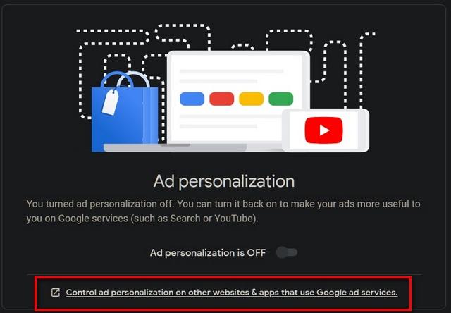 Controlar la personalización de anuncios en otros sitios web