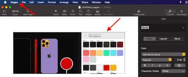 Вставьте изображение в другое приложение