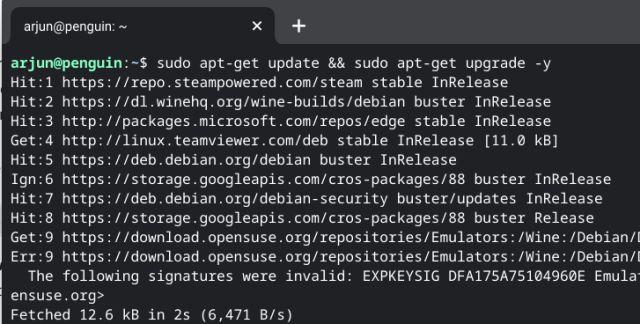 обновить linux