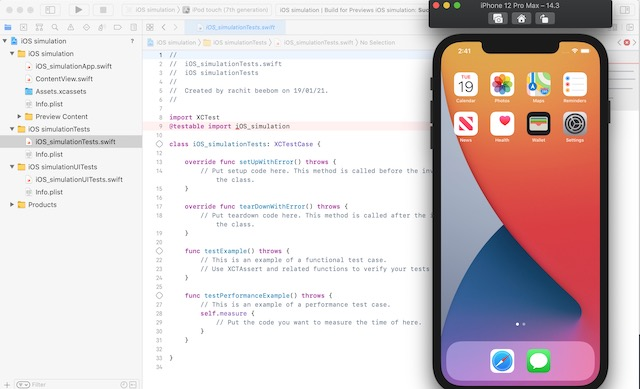 Xcode Simulation для iPhone