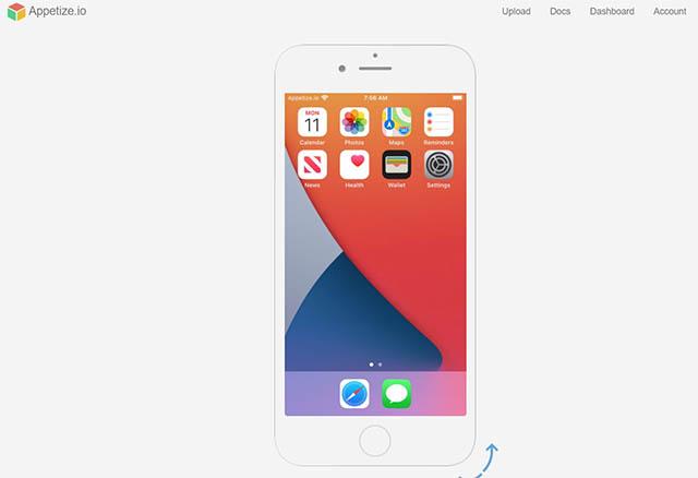 аппетитный эмулятор iOS