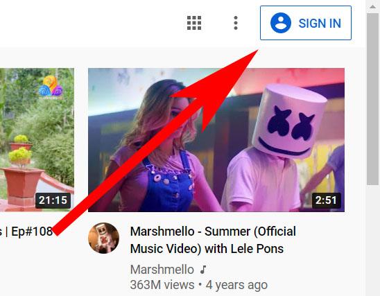 вход на YouTube