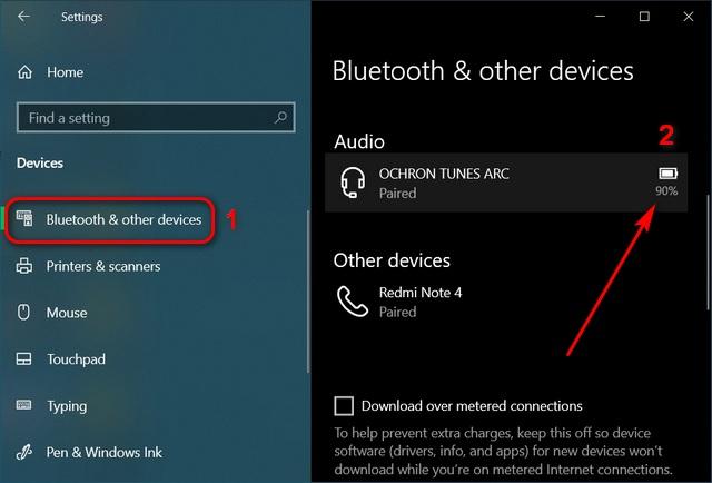 Cómo verificar el nivel de batería de los auriculares Bluetooth en Windows 10
