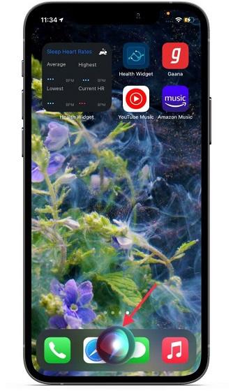 Вызов Siri на Iphone