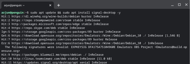 Установите Signal на Chromebook (2021 г.)