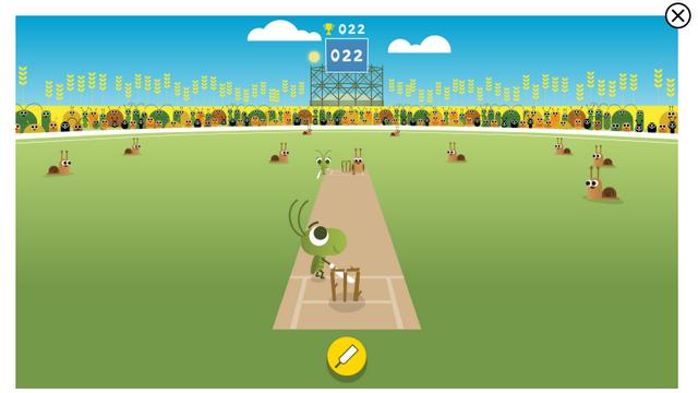 крикет google каракули спортивная игра
