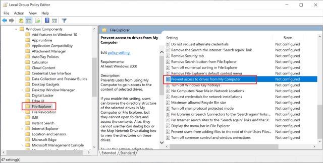 Ограничение доступа к жесткому диску для локальных учетных записей в Windows 10 (2021 г.)