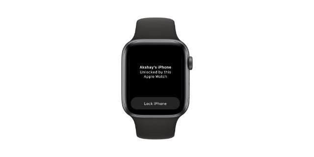 заблокировать iphone с яблочными часами