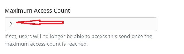 Установить максимальное количество доступа