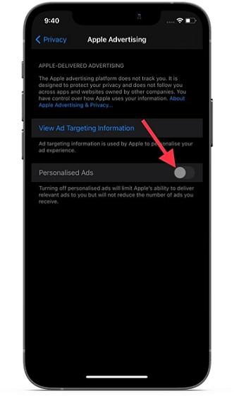 Deaktivieren Sie personalisierte Anzeigen auf iOS und iPadOS - blockieren Sie die Apple-Anzeigenverfolgung auf iPhone und iPad