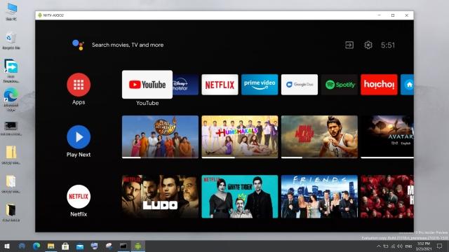 android tv на пк с windows 10