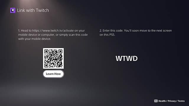 связать консоль с Twitch