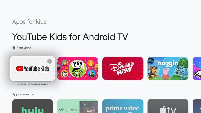 выберите детские приложения