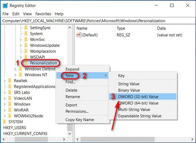 Disable Windows 10 Lock Screen Using Registry