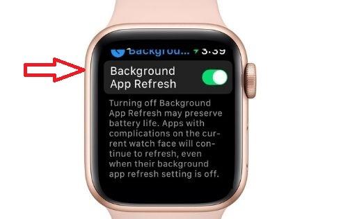 Toma el control de la actualización de la aplicación en segundo plano en el Apple Watch