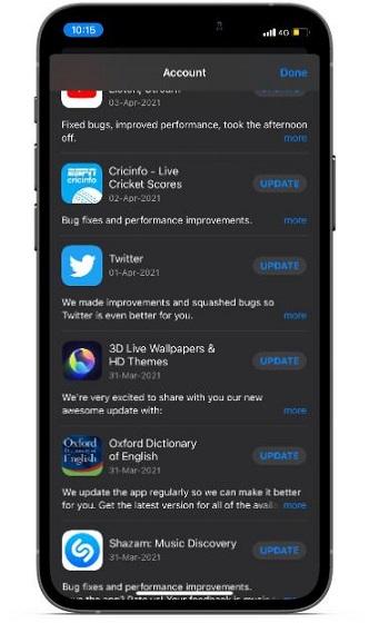 Обновите приложения на iOS