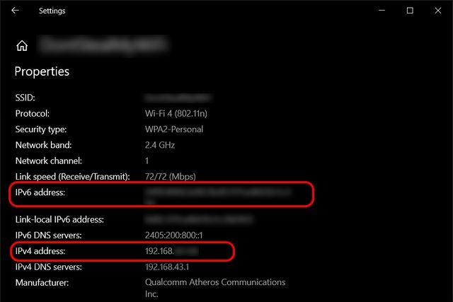 Encuentra la dirección IP local de Windows 10