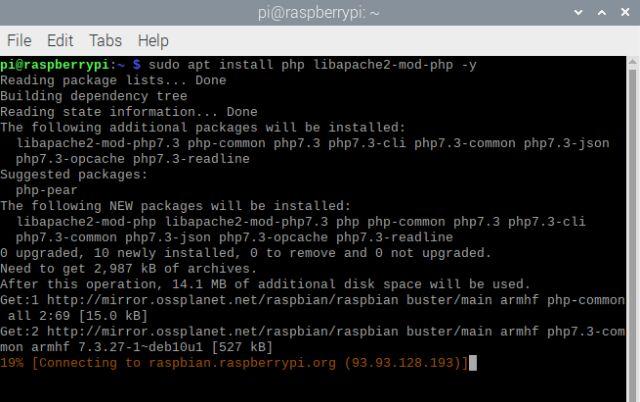Instalar PHP en raspberry pi