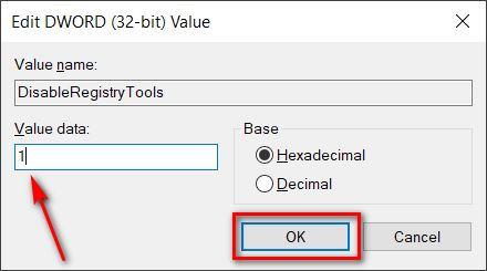 Deshabilite el acceso al registro de Windows 10 en su computadora