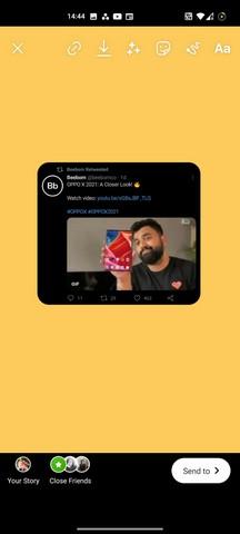 Cómo compartir un tweet en la historia de Instagram android