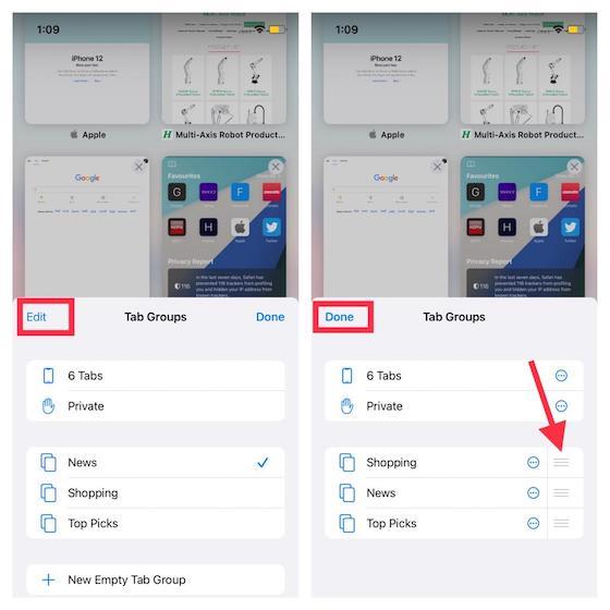 Reorganizar los grupos de pestañas de Safari: cómo usar los grupos de pestañas en Safari en iOS 15