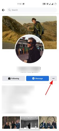 bloquear a alguien en la aplicación de facebook 1
