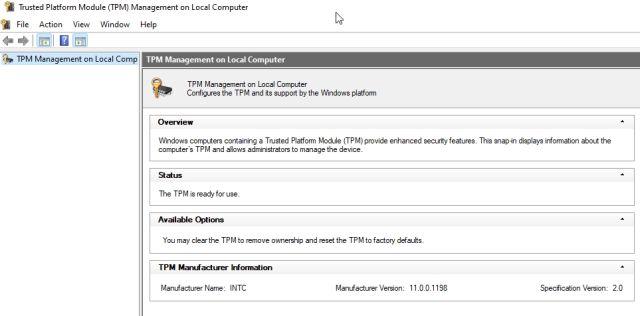 Verifique y habilite el chip TPM en su PC con Windows (2021)
