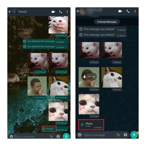 foto enviada a la vista una vez modo remitente vs destinatario - foto que desaparece whatsapp