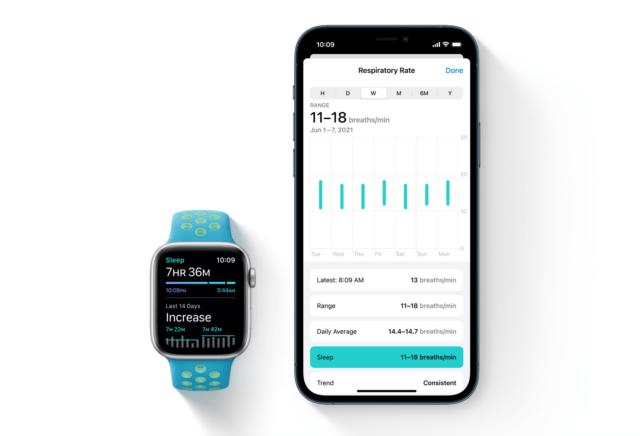 ¿Qué es la frecuencia respiratoria en Apple Watch?