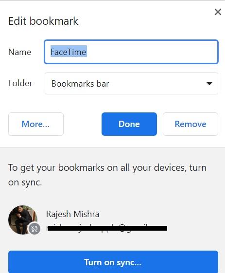 Personalizar marcador de FaceTime