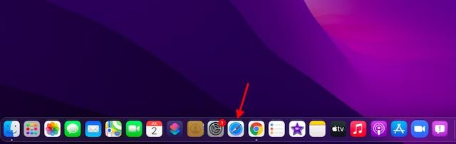 Abra Safari en macOS 12