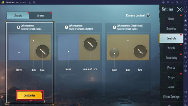 personalizar teclas para jugar BGMI en PC