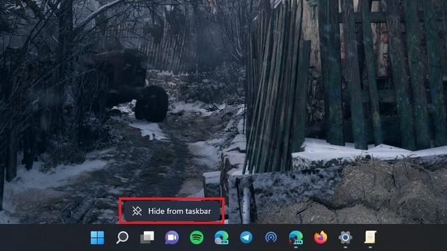 ocultar el chat de la barra de tareas de Windows 11