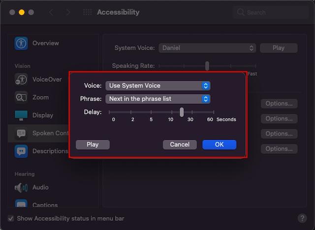 Personalizar la configuración de anuncios de voz en Mac: cómo habilitar las alertas de anuncios en Mac