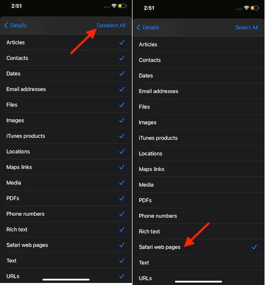 Seleccionar-Safari-páginas-web-en-accesos directos