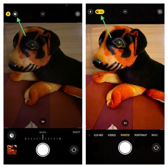 Activar manualmente el modo nocturno en iPhone