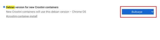 Actualice Linux en Chromebook a Debian Bullseye