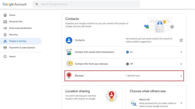 personas bloqueadas cuenta de google