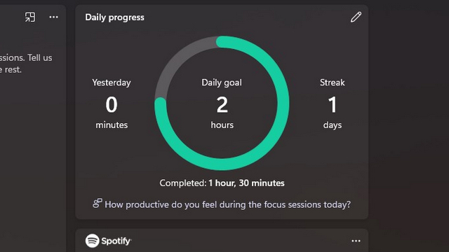sesión de enfoque de progreso diario