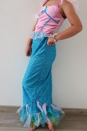 Zeemeerminnenjurk verkleedkleding meiden