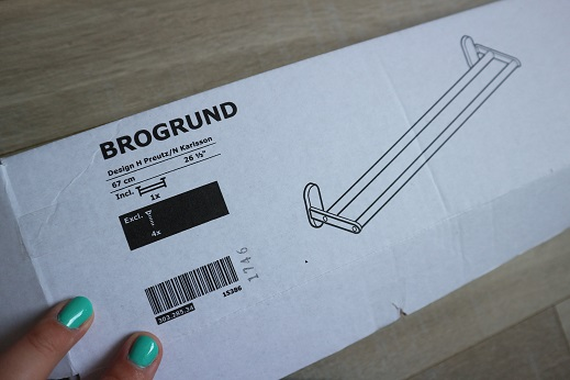 Verkleedkleding organiseren handdoekenrek Brogrund Ikea