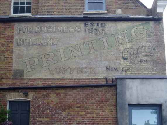Chadwick Road ghost sign