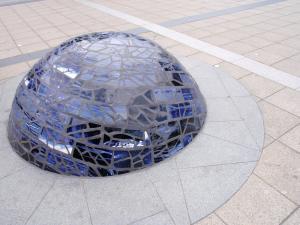 Water mosaic sculpture peckham library