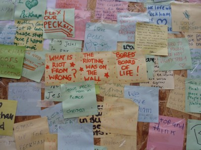 peckham peace wall original post its