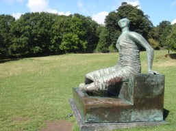 Henry Moore sculpture Draped seated woman. 1957 - 58