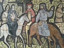 Canterbury pilgrims ceramic detail